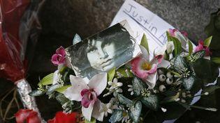 La tombe de Jim Morrison au Père Lachaise à Paris, le 7 octobre 2007. (GODONG / ROBERT HARDING PREMIUM / AFP)