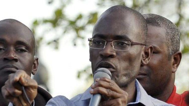 Toussaint Alain, ex-conseiller de Laurent Gbagbo, en 2011 à Paris (JOHANNA LEGUERRE / AFP)