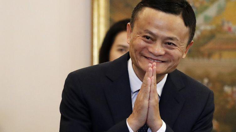 Le fondateur d'Alibaba, Jack Ma, lors d'une réunion en Thaïlande, le 18 avril 2018. (JORGE SILVA / AFP)