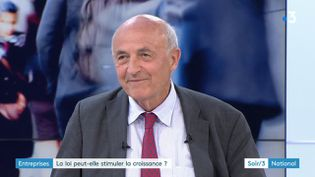 Jean-Hervé Lorenzi, président du Cercle des économistes (France 3)