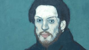 Autoportrait de Picasso (détail) réalisé en 1901.  (collection Musée Picasso, Paris )
