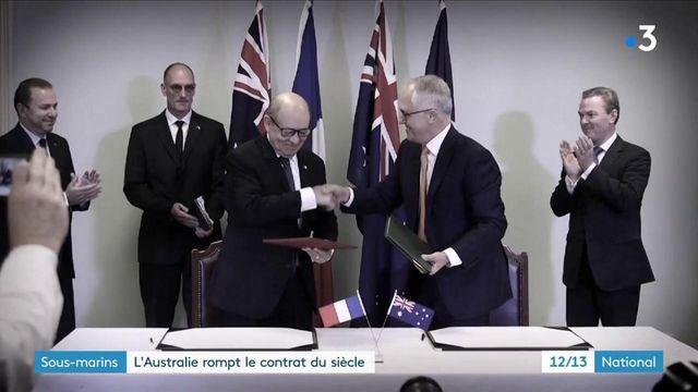 """Sous-marins : l'Australie rompt le """"contrat du siècle"""" avec la France"""