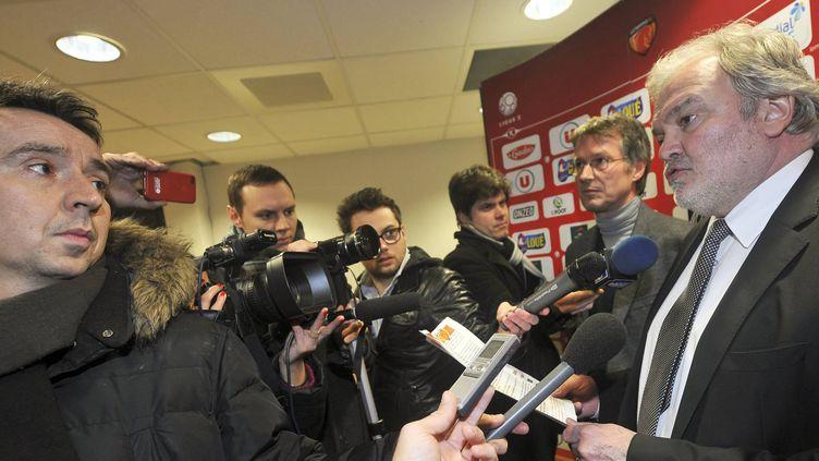 Henri Legarda président du Mans Football Club (DENIS LAMBERT / MAXPPP)