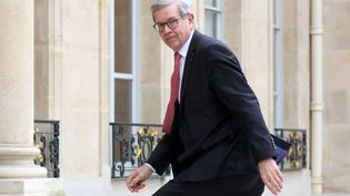 Philippe Varin, le président de France Industrie, l'organisation professionnelle de l'Industrie en France, le 26 mars 2018. (LUDOVIC MARIN / AFP)