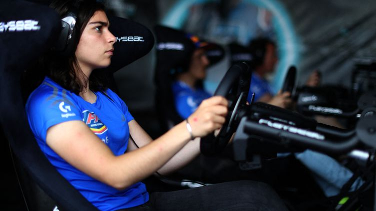 Jamie Chadwick, pilote de développement chez Williams Racing. (CLIVE ROSE / GETTY IMAGES NORTH AMERICA)