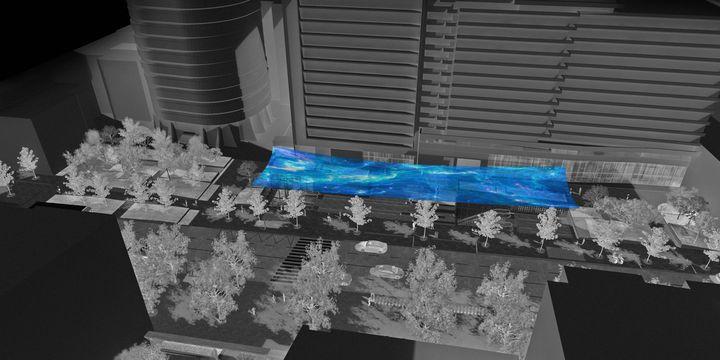 """""""River of air"""", le projet de Ned Khan pour la gare de Maison Blanche  (NED KHAN/SGP)"""