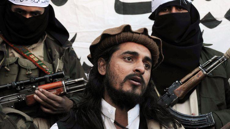 Le chef des talibans pakistanais, Hakimullah Mehsud, le 26 novembre 2008, au Pakistan. (A MAJEED / AFP )