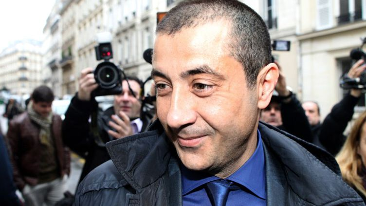Mourad Boudjellal, président du RC Toulon, le 25 janvier 2012 à Paris. (JACQUES DEMARTHON / AFP)