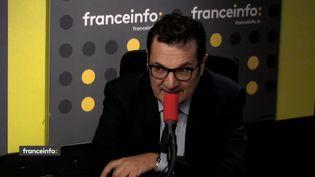 Didier Quillot, directeur général de la LFP, mercredi 30 mai 2018 sur franceinfo. (FRANCEINFO / RADIOFRANCE)