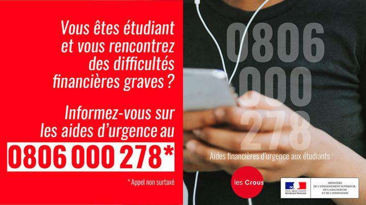 Lancement d'un numéro d'urgence pour les étudiants en grande précarité, le 10 janvier 2020. (MINISTERE DE L'ENSEIGNEMENT SUPERIEUR)