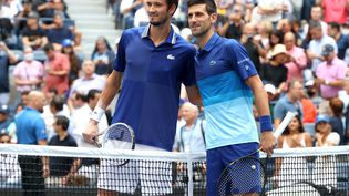 Novak Djokovic et Daniil Medvedev s'affrontent en finale de l'US Open. (MATTHEW STOCKMAN / GETTY IMAGES NORTH AMERICA)