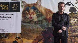 """Jean-Michel Jarre lors de la présentation de son album """"Electronice 2 : the Heart of Noise"""" auACBA Museum de Barcelone en avril 2016  (QUIQUE GARCÍA/SIPA)"""