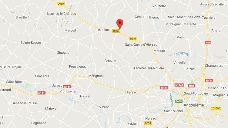 La commune deSaint-Cybardeaux, en Charente (CAPTURE D'ÉCRAN GOOGLE MAPS)