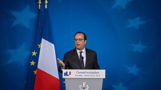 François Hollande, à Bruxelles, le 28 juin 2016. (IRINA KALASHNIKOVA / SPUTNIK)