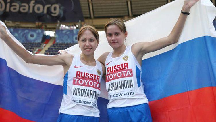 Les deux marcheuses russes Anisya Kirdyapkina et Elena Lashmanova
