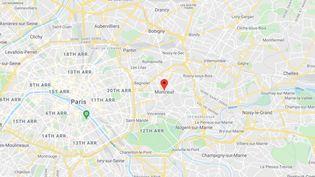 Montreuil, en Seine-Saint-Denis. (GOOGLE MAPS)