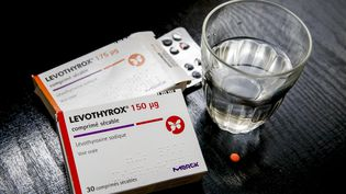 Des boîtes de médicaments de Levothyrox, à Paris, le 17 octobre 2017. (MAXPPP)