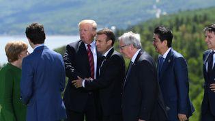 Les membres du G7 lors de l'édition 2018 au Canada. (SAUL LOEB / AFP)