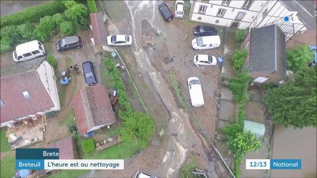 Intempéries : l'heure est au nettoyage à Breteuil