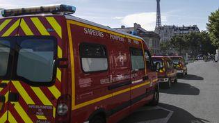Des véhicules des sapeurs-pompiers de Paris, le 10 juillet 2016. (GEOFFROY VAN DER HASSELT / AFP)