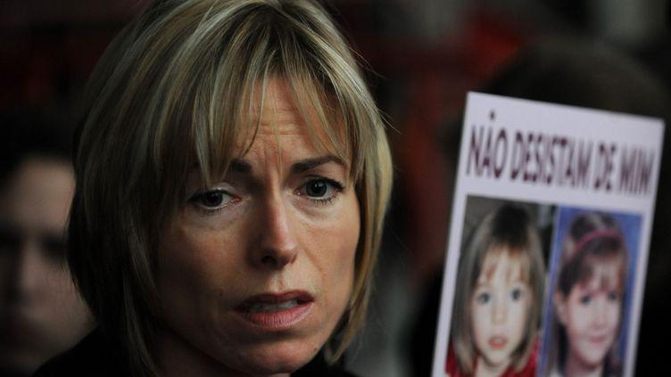 La mère de la petite Maddie, enfant britannique disparue depuis 2007, le 10 février 2010, à Lisbonne (Portugal). (FRANCISCO LEONG / AFP)
