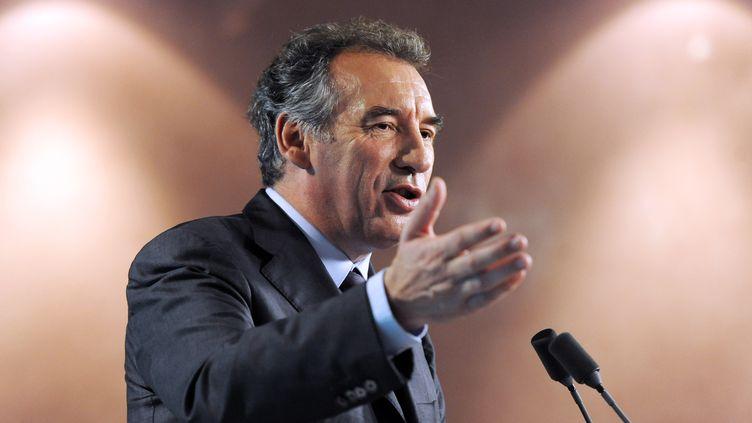 Le président du MoDem, François Bayrou, le 10 mai 2012, à Paris. (MEHDI FEDOUACH / AFP)