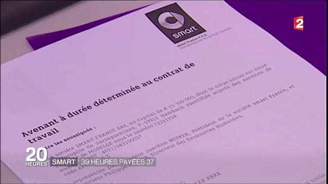 Moselle : les ouvriers de l'usine Smart passent aux 39 heures payées 37