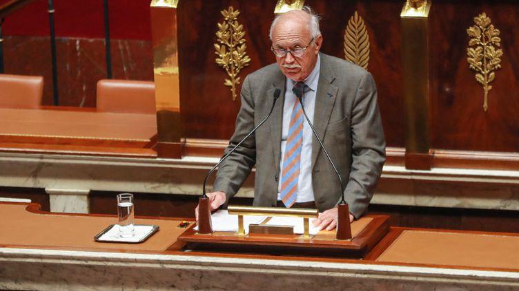Le co-rapporteur du projet de loi de bioéthique Jean-Louis Touraine, à l'Assemblée nationale, le 24 septembre 2019. (JACQUES DEMARTHON / AFP)