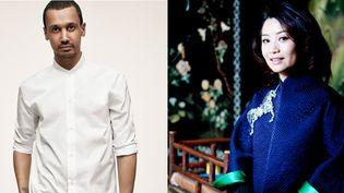Les créateurs des maisons Yacine Aouadi et Guo Pei (de gauche à droite)  (Gregory Harris pour Yacine Aouadi)