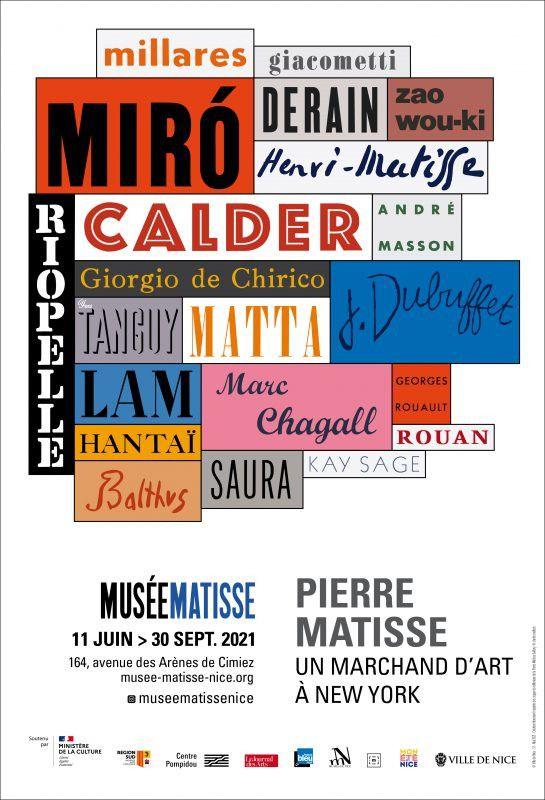 Pierre Matisse, un marchand d'art à New York, jusqu'au 30 septembre 2021 à Nice. (DR / Musée Matisse)