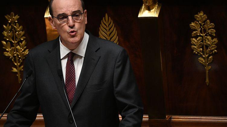 Le Premier ministre, Jean Castex, lors de son discours de politique générale à l'Assemblée nationale, le 15 juillet 2020. (MARTIN BUREAU / AFP)
