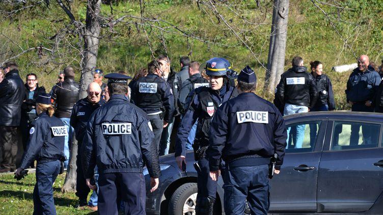 La police à la cité de la Castellane à Marseille (Bouches-du-Rhône), lundi 9 février 2015. (CITIZENSIDE / GERARD BOTTINO / AFP)