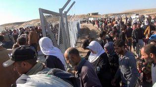 Le camp de réfugiés d'Hassan Cham à l'Est de Mossoul en Irak le vendredi 4 novembre. (ERIC DAMAGGIO / RADIO FRANCE)