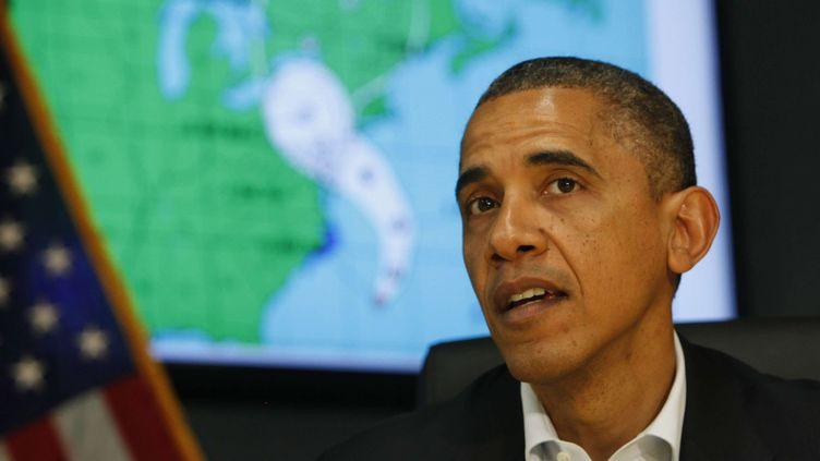 Le président américain sortant, Barack Obama, s'exprime dans les locaux de l'Agence fédérale américaine des secours d'urgence, à Washington (Etats-Unis), le 28 octobre 2012. (SIPA USA)