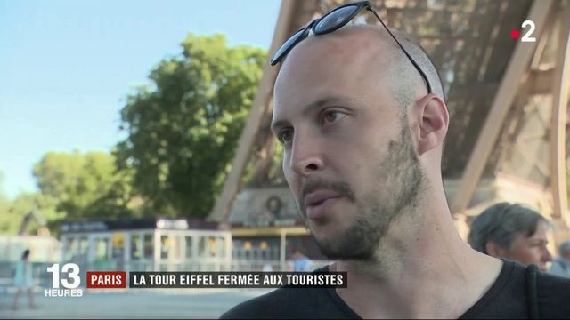 Paris : la Tour Eiffel fermée aux touristes