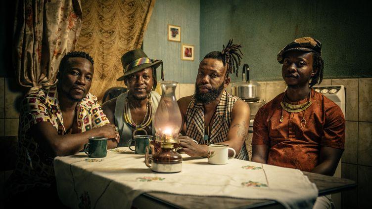 Les quatre membres du groupe Urban Village, qui sortent leur premier album Udondolo. (Justice Mukheli)