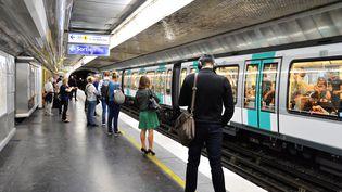 La ligne 1 du métro parisien, le 12 septembre 2019, à Paris. (DANIEL PIER / NURPHOTO / AFP)