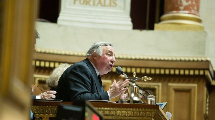 Gérard Larcher au Sénat, le28 janvier 2015. (  MAXPPP)