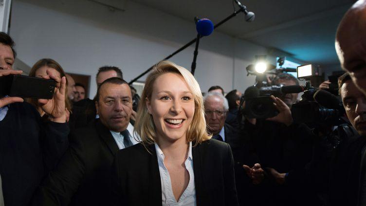 La députée FN du Vaucluse, Marion Maréchal-Le Pen, le 22 mars 2015, à Carpentras (Vaucluse). (BERTRAND LANGLOIS / AFP)