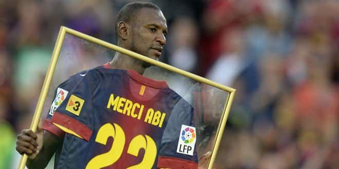 Eric Abidal a été célébré par le club catalan et ses supporters lors de son départ à l'été 2013