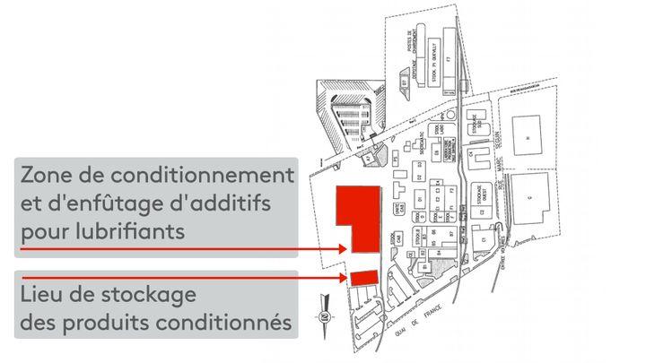 Plan issu d'un documentDirection régionale de l'environnement, de l'aménagement et du logement (Dreal) de Normandie, datant du 16 octobre 2018. (STEPHANIE BERLU / RADIO FRANCE)