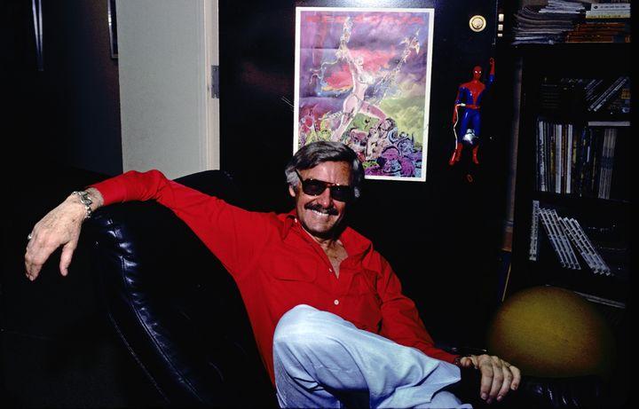Le créateur de comics Stan Lee à New York (Etats-Unis), le 10 juillet 1978. (SANTI VISALLI / ARCHIVE PHOTOS / GETTY IMAGES)