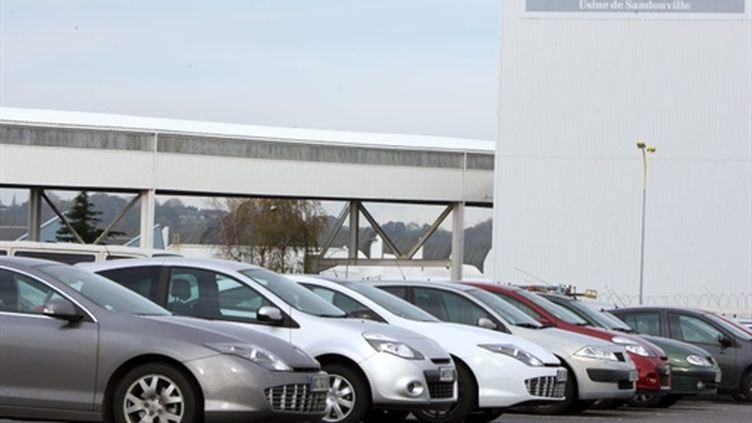Véhicules à l'usine Renault de Sandouville (Seine-Maritime) (AFP - KENZO TRIBOUILLARD)