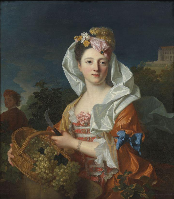 Une vendangeuse, portrait présumé de  Marguerite Elisabeth Rigaud, vers 1715 (Photographie Nationalmuseum.)