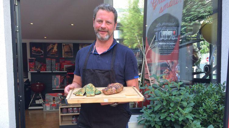 (Vincent Tiberghien, chef cuisinier à la Grill Academy à Issy-les-Moulineaux  © Radiofrance/Laurent Mariotte)