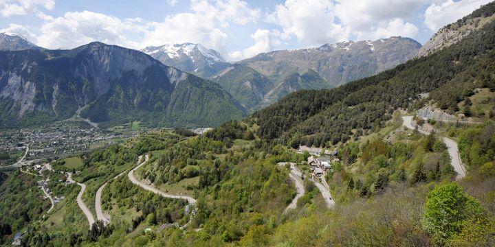 La montée vers l'Alpe d'Huez