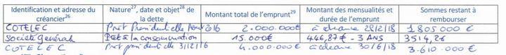 Capture d'écran de la déclaration de Marine Le Pen. (CAPTURE D'ECRAN / FRANCEINFO)