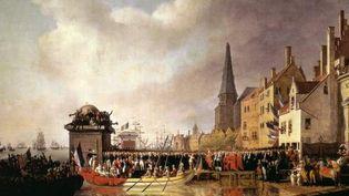 """""""Entrée de Bonaparte et de Josephine à Anvers, 18 juillet 1803"""" par Mathieu-Ignace van Bree  (DR)"""