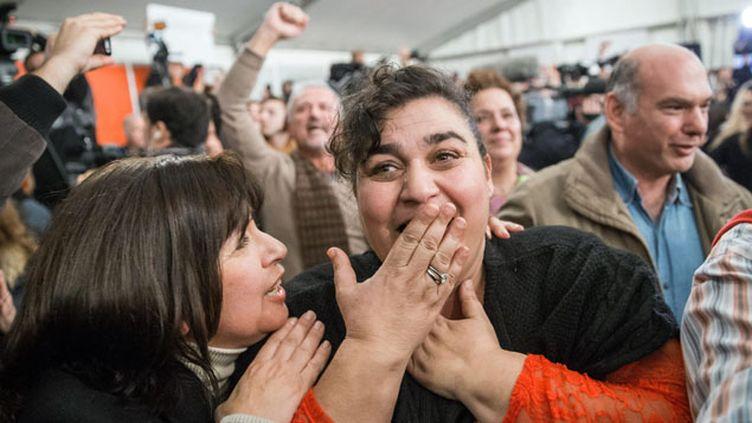 (Scènes de joie à Athènes après la victoire de Syriza © MAXPPP)
