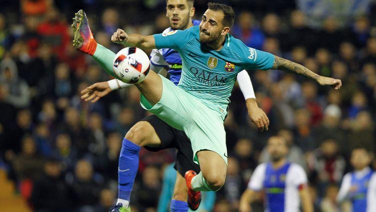 Paco Alcacer, l'attaquant du FC Barcelone (JOSE JORDAN / AFP)